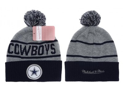 Buy Mitchell and Ness Dallas Cowboys Knit Beanie Hats  1d6f7c93deb