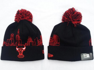 f91af437268 Snapbacks and Beanies. Chicago Bulls Snapback · Wholesale Chicago Bulls All Black  Pom Beanies