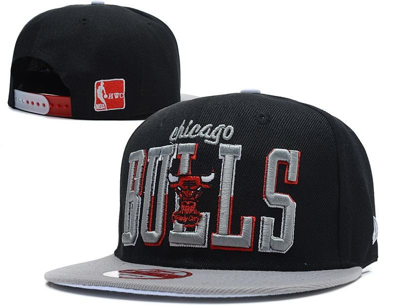 Chicago Bulls Snapback Hat For Sale Cheap Black Chicago Bulls Snapback Hats Grey Brim