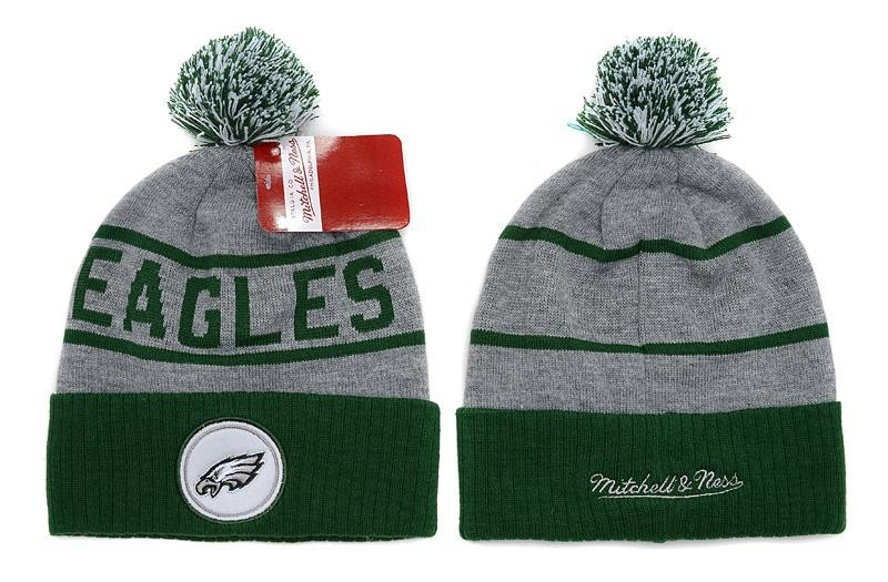 Buy Mitchell and Ness Philadelphia Eagles Knit Beanie Hats ... a8eaee998
