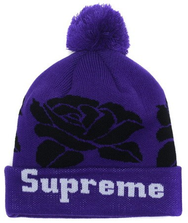 8e58bce8895 Snapbacks and Beanies. Chicago Bulls Snapback · Purple and Black Supreme  Pom Beanie
