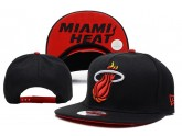 All Black NBA Miami Heat Snapback Cap