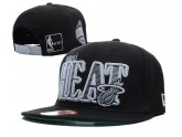 All Black NBA Miami Heat Snapback Hats