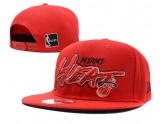 All Red NBA Miami Heat Snapback Hat