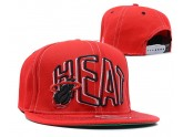 All Red NBA Miami Heat Snapback Hats