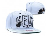 All White NBA Miami Heat Snapback Hat
