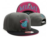Black and Grey Miami Heat Snapback Hats