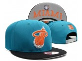 Blue Miami Snpaback Hat with Black Brim