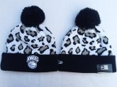 Brooklyn Nets Sport Beanies in Grey Leopard Pattern