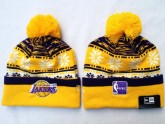 Cheap Los Angeles Lakers Kint Beanie