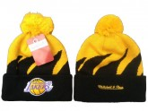 Cheap Los Angeles Lakers Pom Beanies
