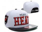 Cheap White Black NBA Miami Heat Snapback