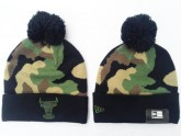Chicago Bulls Beanies Hat in Camouflage Pattern