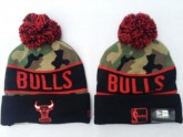 Chicago Bulls Sport Beanies in Camouflage Pattern