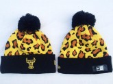Chicago Bulls Sport Beanies in Leopard Pattern