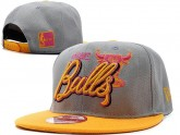 Grey And Yellow Chicago Bulls Snapback