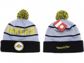 Grey Los Angeles Lakers Kint Beanie