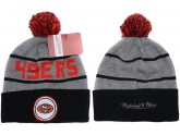Grey San Francisco 49ers Kintted Beanies