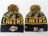 Los Angeles Lakers Sport Beanies in Camouflage Pattern