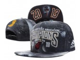 Miami Heat NBA Champions Snapback in Grey Glaxy Pattern