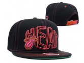 Miami Heat Snapback Hat in Black