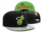 Miami Heat Snapback Hat in Black Grey Brim