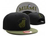 Miami Heat Snapback Hat in Black Olive Brim