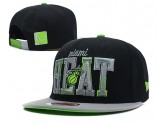 Miami Heat Snapback Hat in Black with Grey Brim