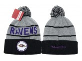 Mitchell and Ness Baltimore Ravens Knit Beanie Hats
