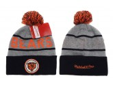 Mitchell and Ness Chicago Bears Knit Beanie Hats