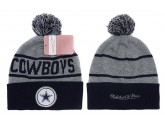 Mitchell and Ness Dallas Cowboys Knit Beanie Hats