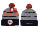 Mitchell and Ness Denver Broncos Knit Beanie Hats
