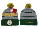 Mitchell and Ness Green Bay Packers Knit Beanie Hats