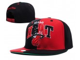 Mitchell and Ness Red NBA Miami Heat Snapback Hats