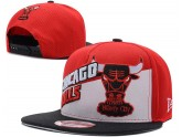 Red And Black Chicago Bulls Snapback Hat