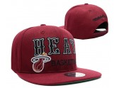 Red Miami Heat Snapback Hats