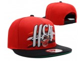 Red Miami Heat Snapback hats Black Brim
