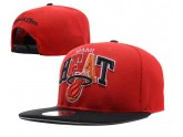 Red Miami Heat Snapbacks Black Brim