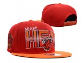 Red Miami Heat Snapbacks Yellow Brim