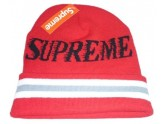 Red Supreme Knit Beanie