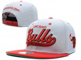 White And Red Chicago Bulls Snapback