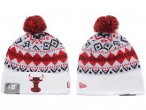 White Chicago Bulls Kint Beanie