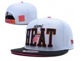 White and Black NBA Miami Heat Snapback Hat