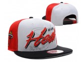 White and Black NBA Miami Heat Snapback Hats