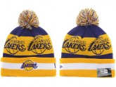 Yellow Los Angeles Lakers Kint Beanie